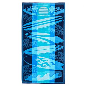 Celebrate Summer Together Surfboards Beach Towel