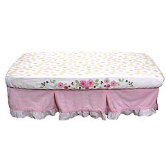 Nurture Basix 2-pc. Pink Garden Dust Ruffle & Crib Sheet Starter Set by