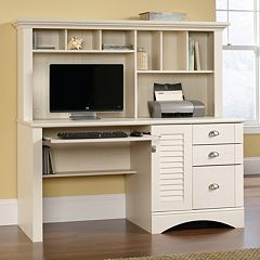 Sauder Woodworking Harbor View Hutch Desk  by