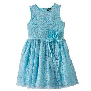 445aba8150d Girls 7-16 Lilt Sequin Soutache Bodice   Tiered Tulle Skirt Dress ...