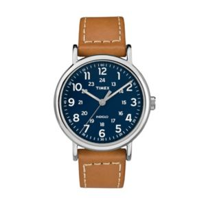 Timex Unisex Weekender Leather Watch - TW2R42500JT