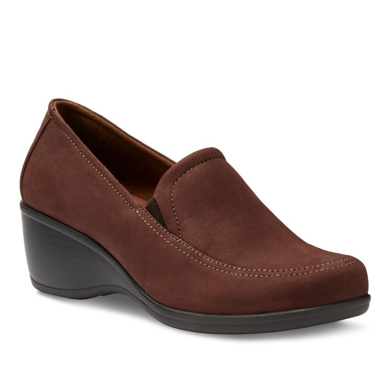 Eastland Cora Women's Wedge Loafers, Size: medium (6), Lt Brown thumbnail