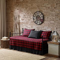 Woolrich Red Buffalo Check 5-piece Daybed Coverlet Set by