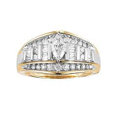 Lovemark 10k Gold 1 Carat T.W. Diamond Marquise Ring by