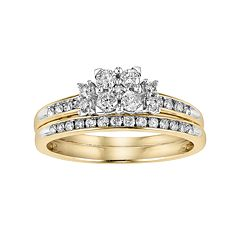 Lovemark Diamond Engagement Ring Set in 10k Gold (1/2 Carat T.W.) by