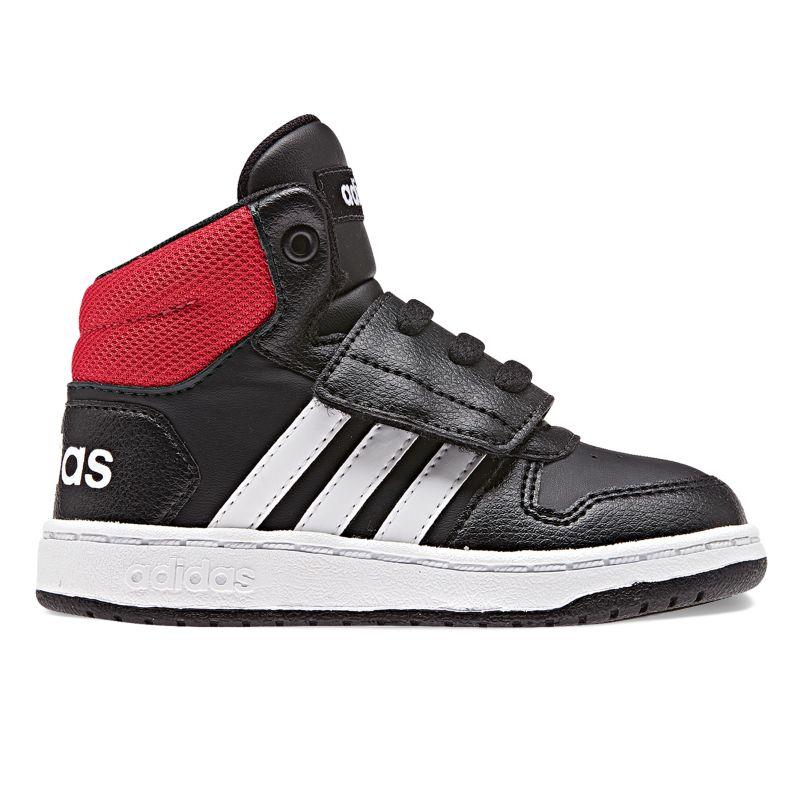 Adidas VS Hoops Mid 2.0 Toddler Boys' Basketball Shoes, Size: 5 T, Black thumbnail