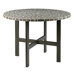 INK+IVY Mosaic Round Dining Table by