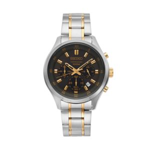 Seiko Men's Two Tone Stainless Steel Chronograph Watch - SKS591