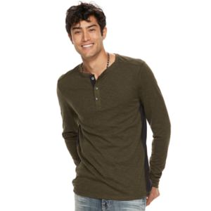 Big & Tall Rock & Republic Pieced Henley Top