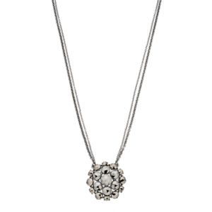 Simply Vera Vera Wang Nickel Free Simulated Hematite Cluster Pendant Necklace
