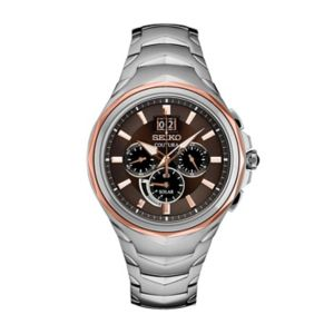 Seiko Men's Coutura Stainless Steel Solar Chronograph Watch - SSC628