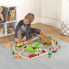 KidKraft Dinosaur Bucket Top Train Set by