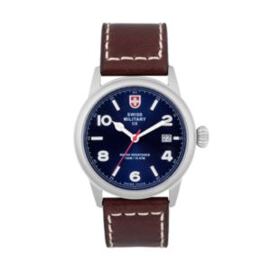 Swiss Military by Charmex(CX) Men's Leather Watch - 78335-8-C