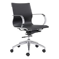 Zuo Modern Low Back Adjustable Glider Desk Chair by