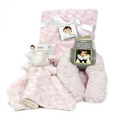 Blankets & Beyond Rosettes Nunu Pink Baby Gift Set by