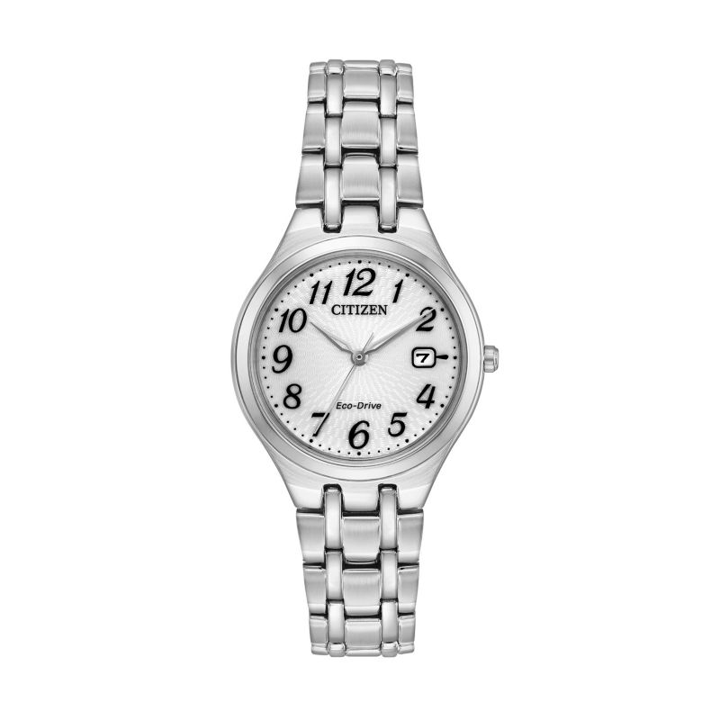 Citizen Eco-Drive Women's Corso Stainless Steel Watch - EW2480-59A, Size: Small, Grey thumbnail