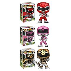 Funko Pop! Power Rangers Collectors Set: Red Ranger, Pink Ranger & White Ranger by