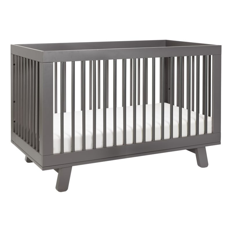 Babyletto Hudson 3-in-1 Convertible Crib with Toddler Bed Conversion Kit, Grey thumbnail