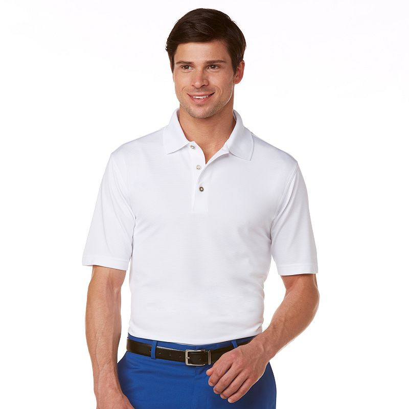 Men's Grand Slam Ottoman Textured Performance Polo