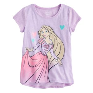 Disney Princess Girls 4-10 Rapunzel Glitter Short Sleeve Graphic Tee by Jumping Beans®