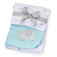 Just Born 2-pk. Animal Thermal Receiving Blankets