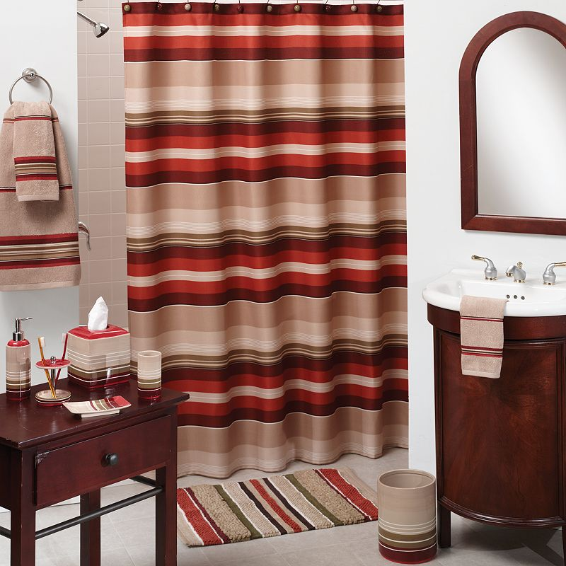 Madison Striped Fabric Shower Curtain