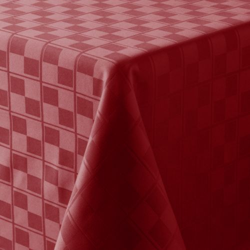 Food Network™ Stain-Resistant Microfiber Check Tablecloth - 60 x 102 Oval