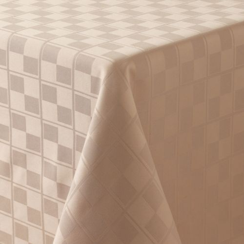 Food Network™ Stain-Resistant Microfiber Check Tablecloth - 70 Round