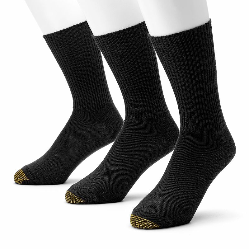 Men's GOLDTOE® 3-pk. Fluffies Crew Socks