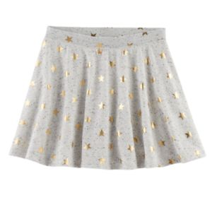 Girls 7-16 SO® French Terry Nep Foil Patterned Circle Skirt