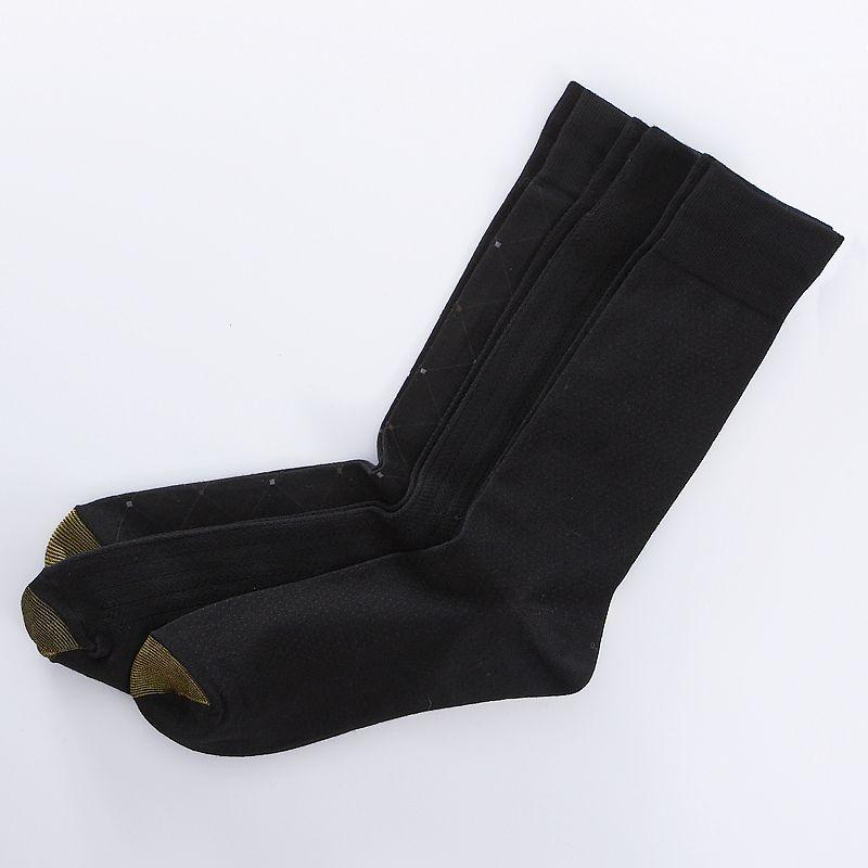 Men's GOLDTOE 3-pk. Patterned Dress Socks