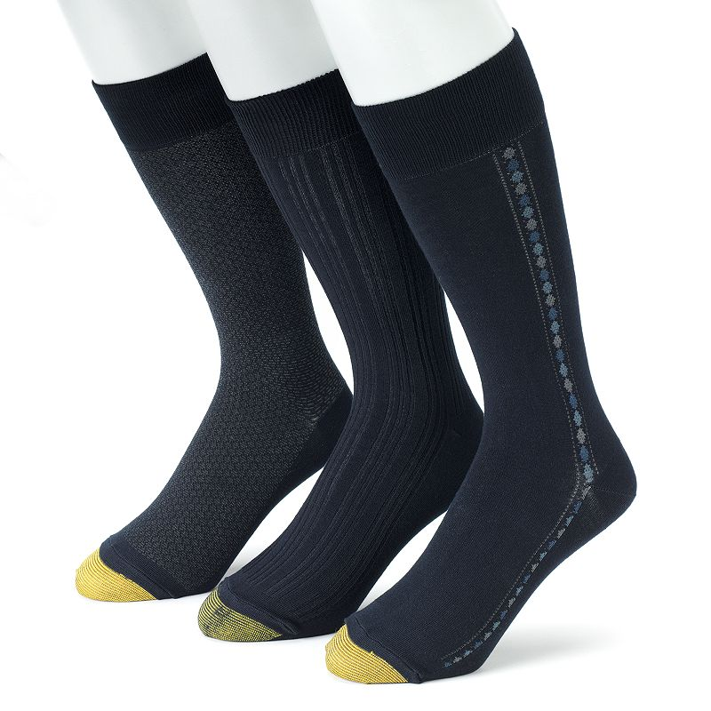Men's GOLDTOE 3-pk. Textured Dress Socks