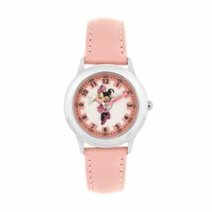Disney's Minnie Mouse Kids' Leather Time Teacher Watch