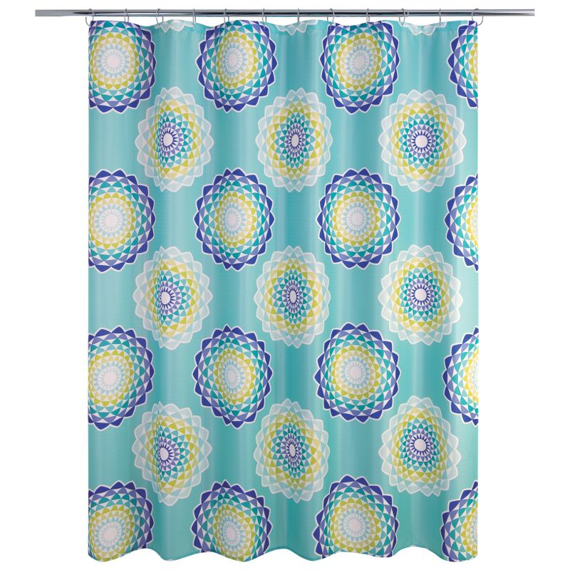 Allure Home Creations Atomic Circle Shower Curtain, Multicolor thumbnail