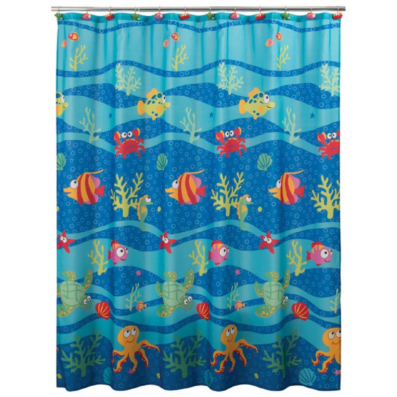 Allure Home Creations Fish Tails Shower Curtain, Multicolor thumbnail