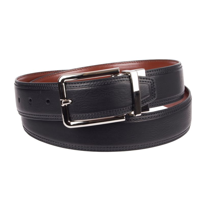 Men's Croft & Barrow® Stitched Reversible Belt, Size: 32, Grey thumbnail