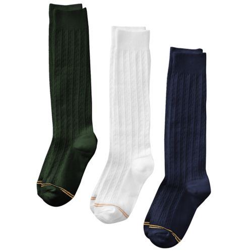 GOLDTOE 3-pk. Knee Socks - Girls