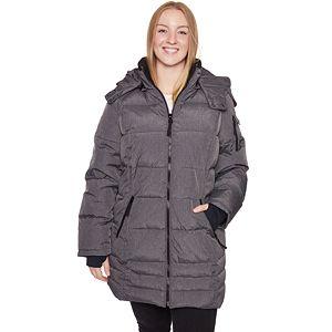 33dd5b3ec7 Plus Size Halitech Hooded Iridescent Puffer Jacket