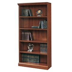 Sauder 5-Shelf Bookcase Cherry by