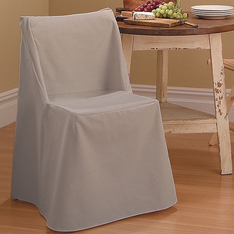 Sure Fit Solid Duck Cloth Folding Chair Slipcover
