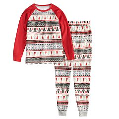 514d641693 Girls 4-16 Jammies For Your Families Polar Bear Fairisle Family Pajamas Top    Bottoms