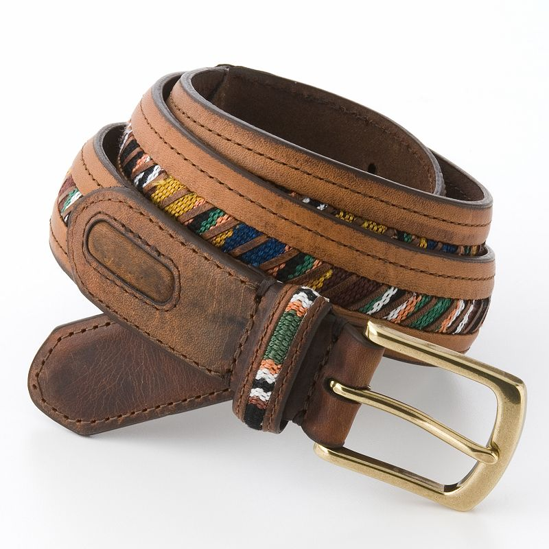 Columbia Embroidered Leather Belt