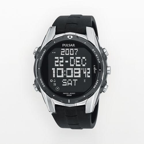 Pulsar Watch - Men's World Time Digital Chronograph