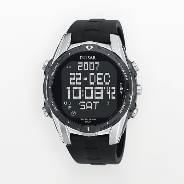 Pulsar Men's World Time Digital Chronograph Watch - PQ2003