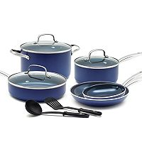 Blue Diamond 10-piece Enhanced Ceramic Nonstick Cookware Set Deals