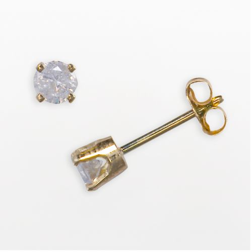 14k Gold 1/3-ct. T.W. Round-Cut Diamond Solitaire Earrings