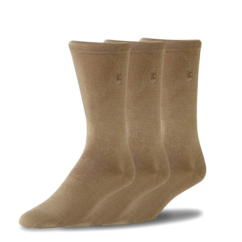 Men's Chaps 3-pk. Flat-Knit Dress Socks