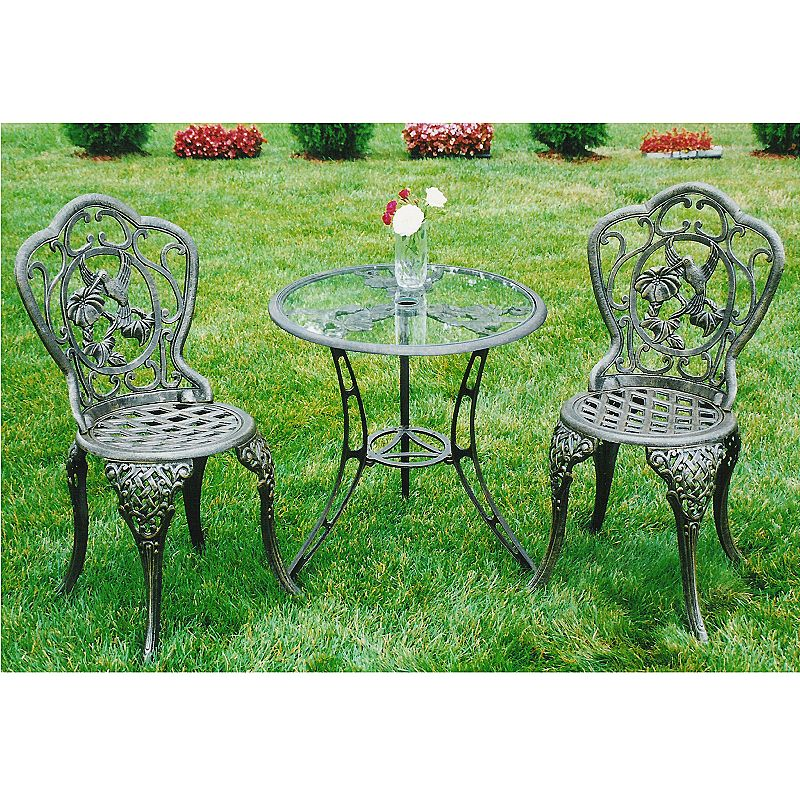Oakland Living 3-pc. Hummingbird Bistro Patio Set - Outdoor