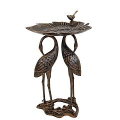 Oakland Living Crane Birdbath Outdoor