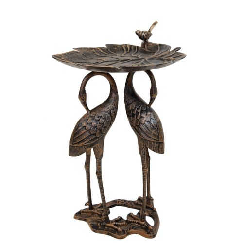 Oakland Living Crane Birdbath - Outdoor